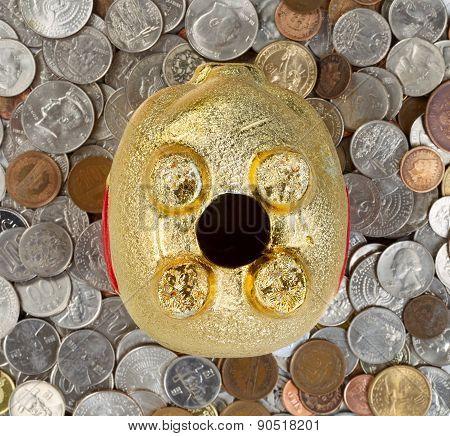 Upside Down Piggy Bank Will Coins Underneath
