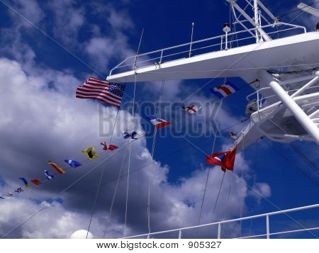 Flags On Ship