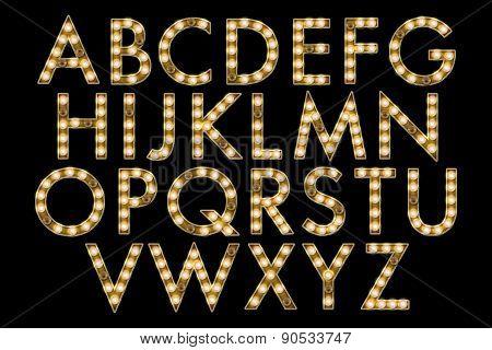 Broadway Marquee Alphabet