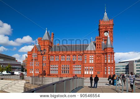 The Famous Pierhead Building, Cardiff,wales