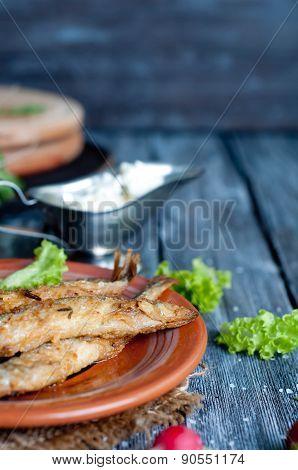 Fried Fish Capelin