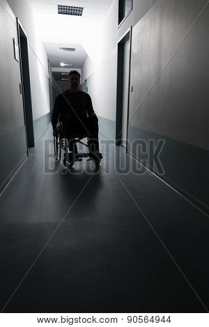 Disabled Man In Hospital