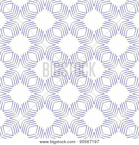 seamless geometric pattern in blue and white