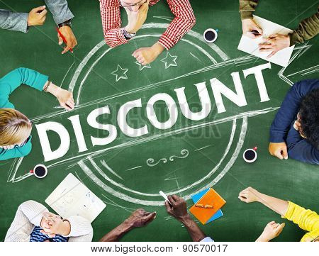 Discount Reduced Price Sale Final Price Cheap Rate Products Concept