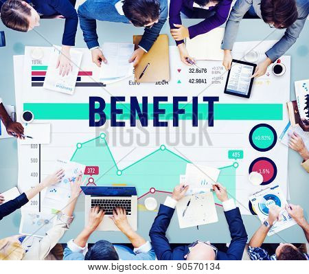 Benefit Profit Value Perks Marketing Business Concept