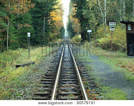 Unique Historic Narrow-gauge Railway. South Bohemia