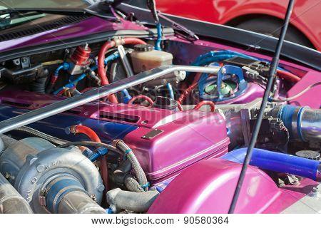 Sport Car Under The Hood