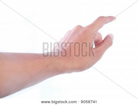 gesture of hand touching