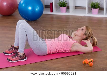Girl And Crunches