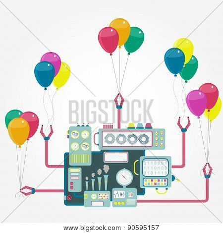 Machine And Balloons