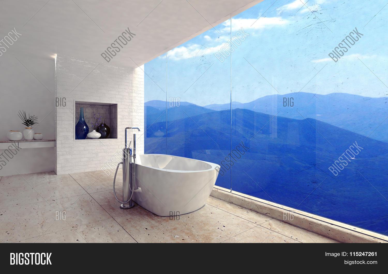 Luxury Modern Bathroom Interior Image & Photo   Bigstock
