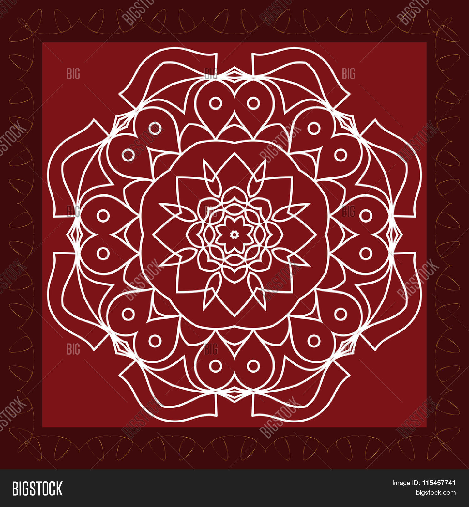 Folk Tribal Design Vector Photo Free Trial Bigstock