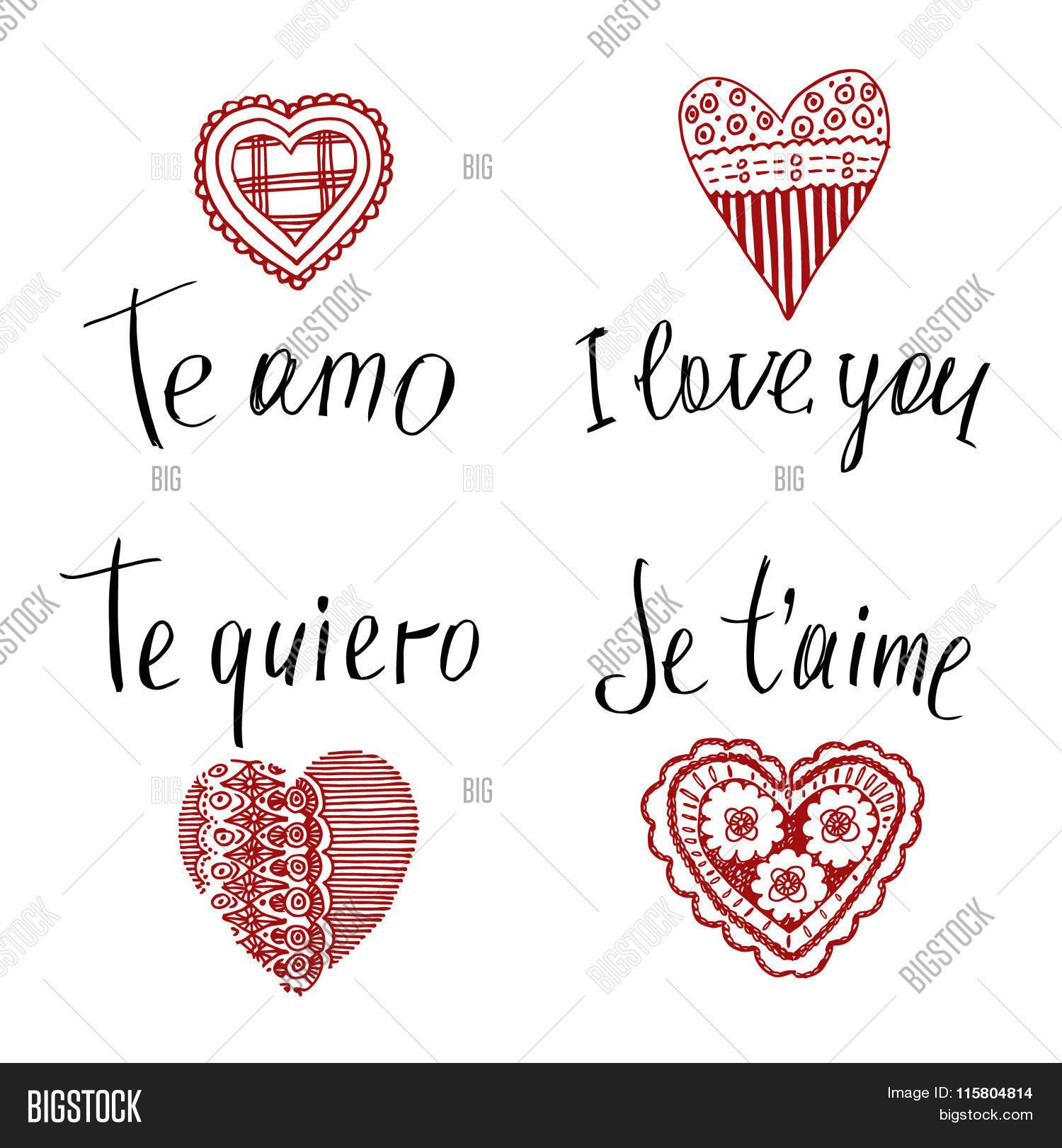 te amo in english