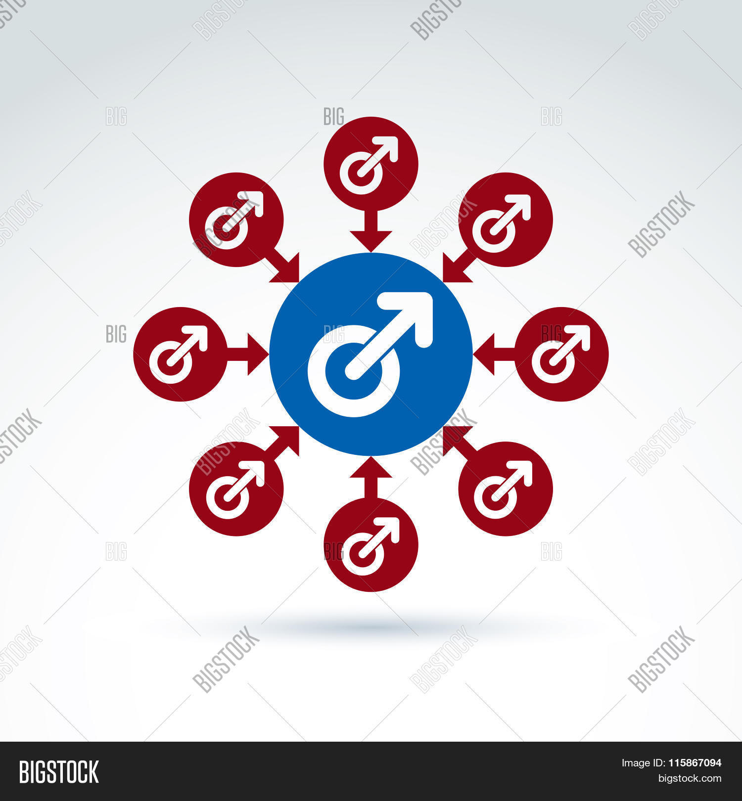 Blue Male Red Female Vector Photo Free Trial Bigstock