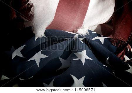 Old Worn Usa Flag