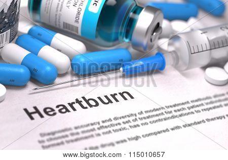 Diagnosis - Heartburn. Medical Concept.