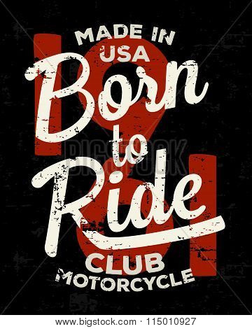 Motorbike, racer, motorcycle typography. Vintage tee print design. T-shirt graphics.