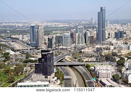 View From The Heights Of The Diamond Exchange In Ramat Gan, Israel