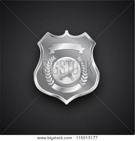 Vector metal Police Badge eps 10