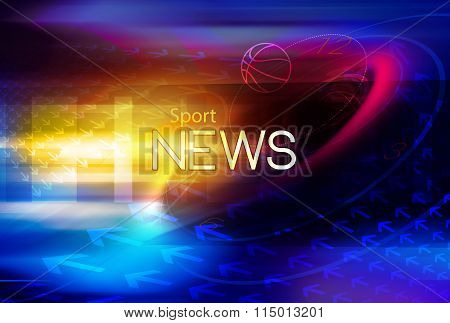 Graphical Sport News Background Ix