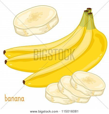 Banana Isolated, Vector.