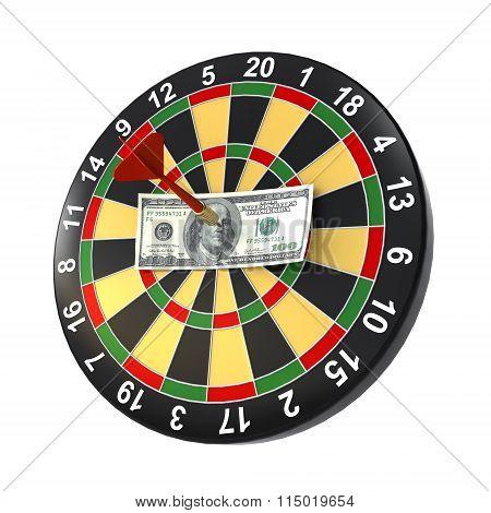 dollar on bullseye