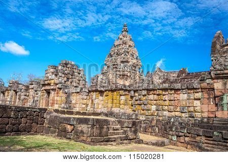 Prasat Hin Phanom Rung Hindu religious ruin located in Buri Ram Province Thailand, built around the 10th-12th century and used as a religious shrine in Hinduism.UNESCO World Heritage site poster