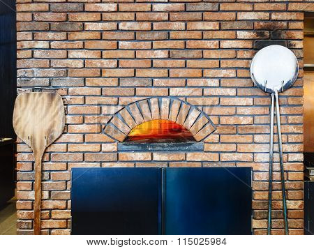 Pizza Oven Brick Fire Italian Cooking Tradition Style Restaurant