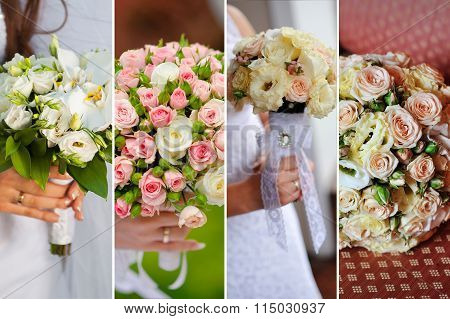 Collage Of Beautiful Wedding Bouquets