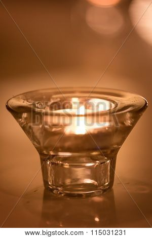 Light In Glass Cup