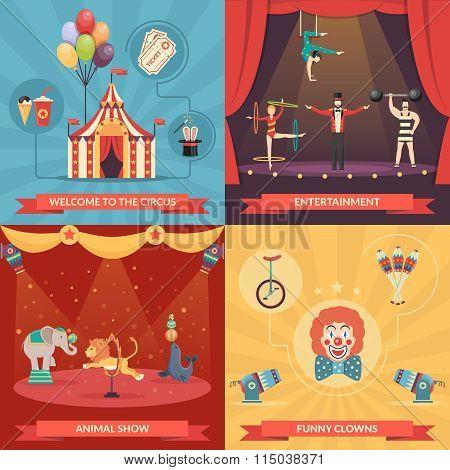 Circus Show 2x2 Design Concept