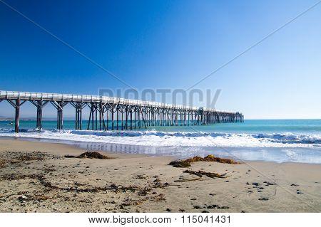 Long Pier Off California Coast