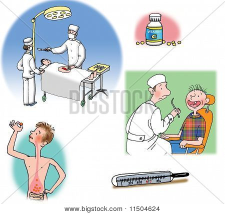 illustrations about healthcare and medicine