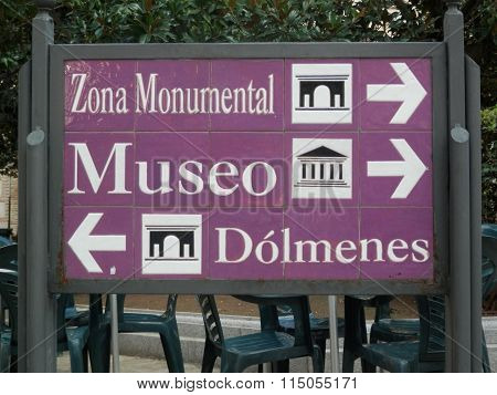Sign Post In Antequera