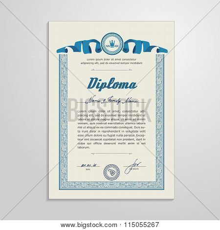 Certificate, Diploma, Design Template
