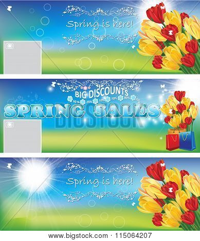 Spring sales banners / backgrounds.