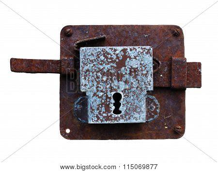 Antique rusty lock