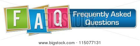 FAQ Colorful Squares Stripe Horizontal
