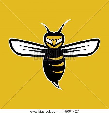 Agressive Bee Mascot