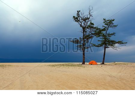 Tent and Storm