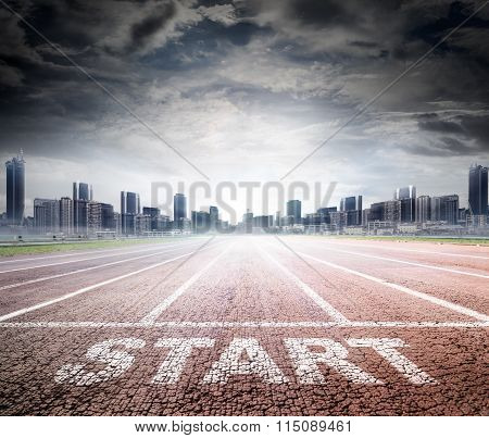 Business Start - Race Track To Success