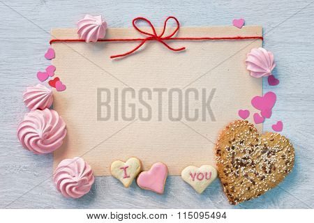 Valentine's background with Cookies