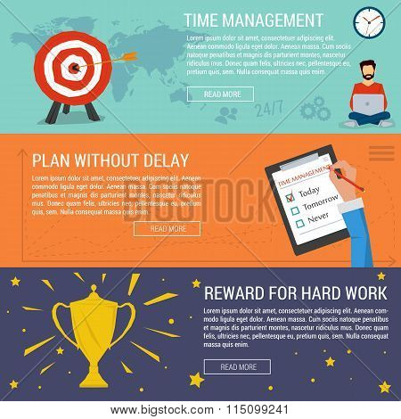 Three banners concept time management