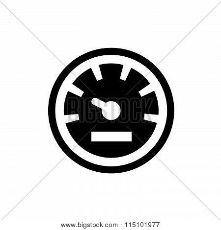 Speedometers vector icons vector design black color support eps10.
