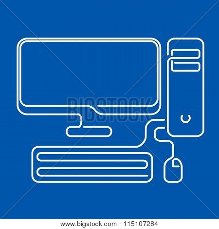 Abstract Computer Vector