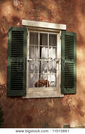 Window With Green Shutters