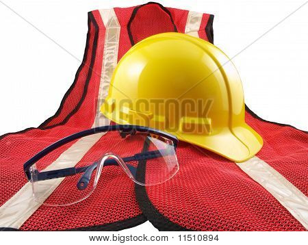 Safety Equipment On White