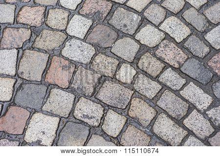 Wet Cobblestone Texture Background