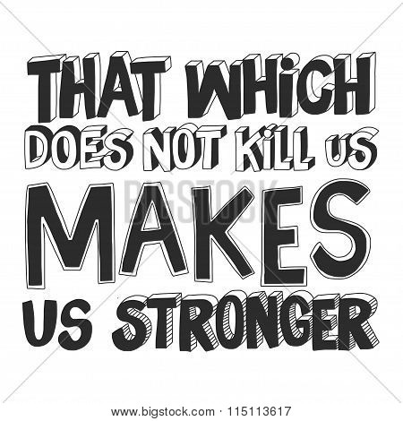 Vector image of quote with motivation phrase