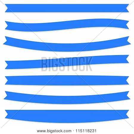 Set Of Oblong, Flat Banner Shapes. Vector.